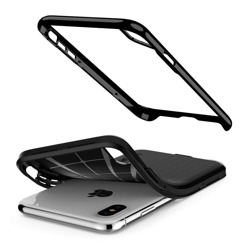 Case Cover SPIGEN NEO Hybrid Apple iPhone + X Jet Black Glass SPIGEN