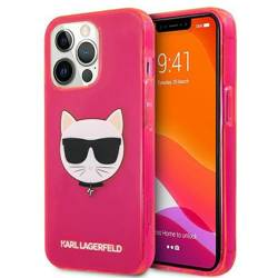 """Karl Lagerfeld KLHCP13LCHTRP iPhone 13 Pro / 13 6.1"""" pink/pink hardcase Glitter Choupette Fluo"""