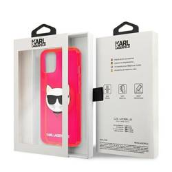 """Karl Lagerfeld KLHCP13MCHTRP iPhone 13 6.1"""" pink/pink hardcase Glitter Choupette Fluo"""