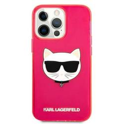 """Karl Lagerfeld KLHCP13XCHTRP iPhone 13 Pro Max 6.7"""" pink/pink hardcase Glitter Choupette Fluo"""