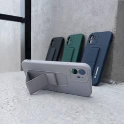 ETUI Wozinsky Kickstand Case flexible Silikonhülle mit Ständer Samsung Galaxy A21S dunkelblau CASE