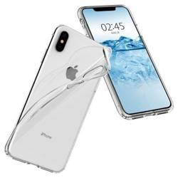 Etui SPIGEN Flüssigkristall Apple iPhone XS MAX Klare Przezroczysty Hülle