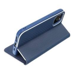 Forcell LUNA Book Carbon Holster für SAMSUNG Galaxy S22 Plus blau