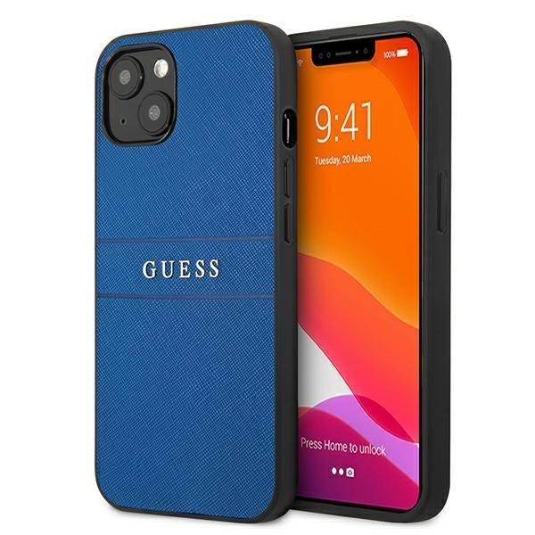 "Guess GUHCP13SPSASBBL iPhone 13 mini 5,4"" blau/blau Saffiano-Armband"