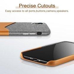 Hülle ESR Metro Apple iPhone XR Braun Grau Hülle für Charter