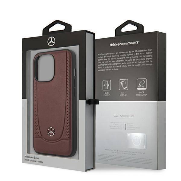 """Mercedes MEHCP13LARMRE iPhone 13 Pro / 13 6.1"""" Hartschalenkoffer rot/rot Urban Line"""