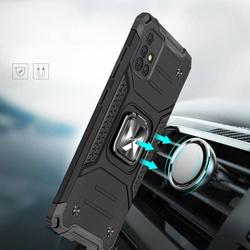 [PO ZWROCIE] Wozinsky Ring Armor pancerne hybrydowe etui pokrowiec + magnetyczny uchwyt Samsung Galaxy A51 5G srebrny