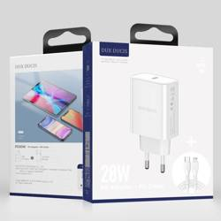 Dux Ducis Travel Charger C60 PD 20W + 1m Type-C to Lightning cable  EU White
