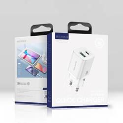 Dux Ducis Travel Charger C80-Dual Port / Super Si PD 30W + QC 18W  EU White
