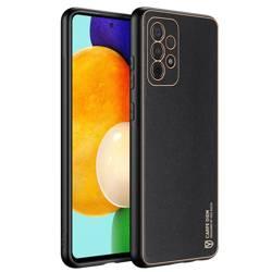Dux Ducis Yolo eleganckie etui pokrowiec ze skóry ekologicznej Samsung Galaxy A52 5G / A52 4G czarny