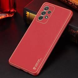 Dux Ducis Yolo eleganckie etui pokrowiec ze skóry ekologicznej Samsung Galaxy A72 4G czerwony