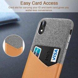 Etui ESR Metro Apple iPhone XR Brown grey Case Na Kartę