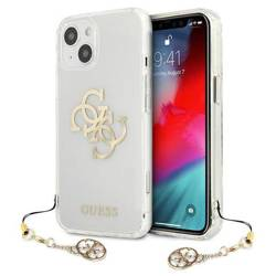 Etui GUESS Apple iPhone 13 4G Gold Charms Collection Bezbarwny Hardcase