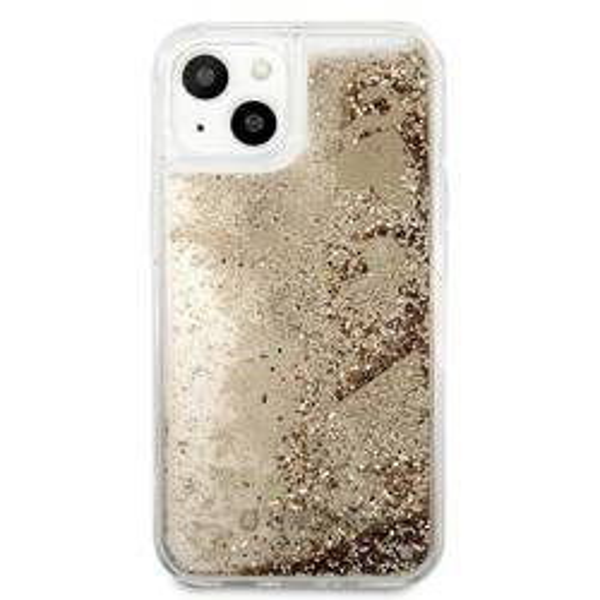 Etui GUESS Apple iPhone 13 Glitter Charms Złoty Hardcase