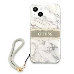 Etui GUESS Apple iPhone 13 Mini Marble Strap Collection Szary Hardcase