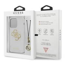 Etui GUESS Apple iPhone 13 Pro 4G Gold Charms Collection Bezbarwny Hardcase