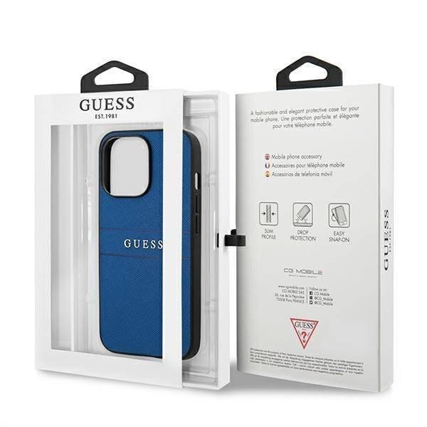 Etui GUESS Apple iPhone 13 Pro Max Saffiano Strap Niebieski Case