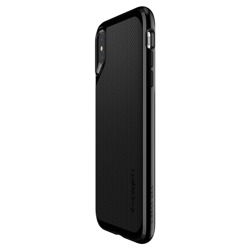 Etui Pokrowiec SPIGEN NEO Hybrid Apple iPhone X JET Black + Szkło SPIGEN