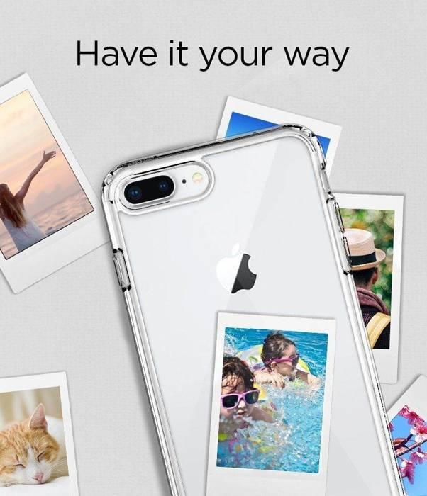 Etui iPhone 7 Plus 8 Plus Spigen Ultra Hybrid 2 Clear Przezroczysty Case Apple