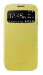 Futerał SAMSUNG Galaxy S4 SIV I9500 I9505 Pokrowiec Flip S-VIEW EF-CI950BWEG Żółty
