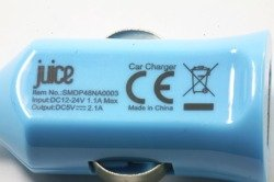 Ładowarka Samochodowa USB Juice Booster 2.1A Uniwersalna Niebieska Apple Samsung Nokia Sony