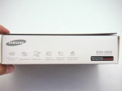 Pudełko SAMSUNG G600 Black CD, Kabel