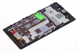 Wyświetlacz SONY Xperia Z1 Grade A Z Logo Fioletowy LCD Oryginalny Dotyk